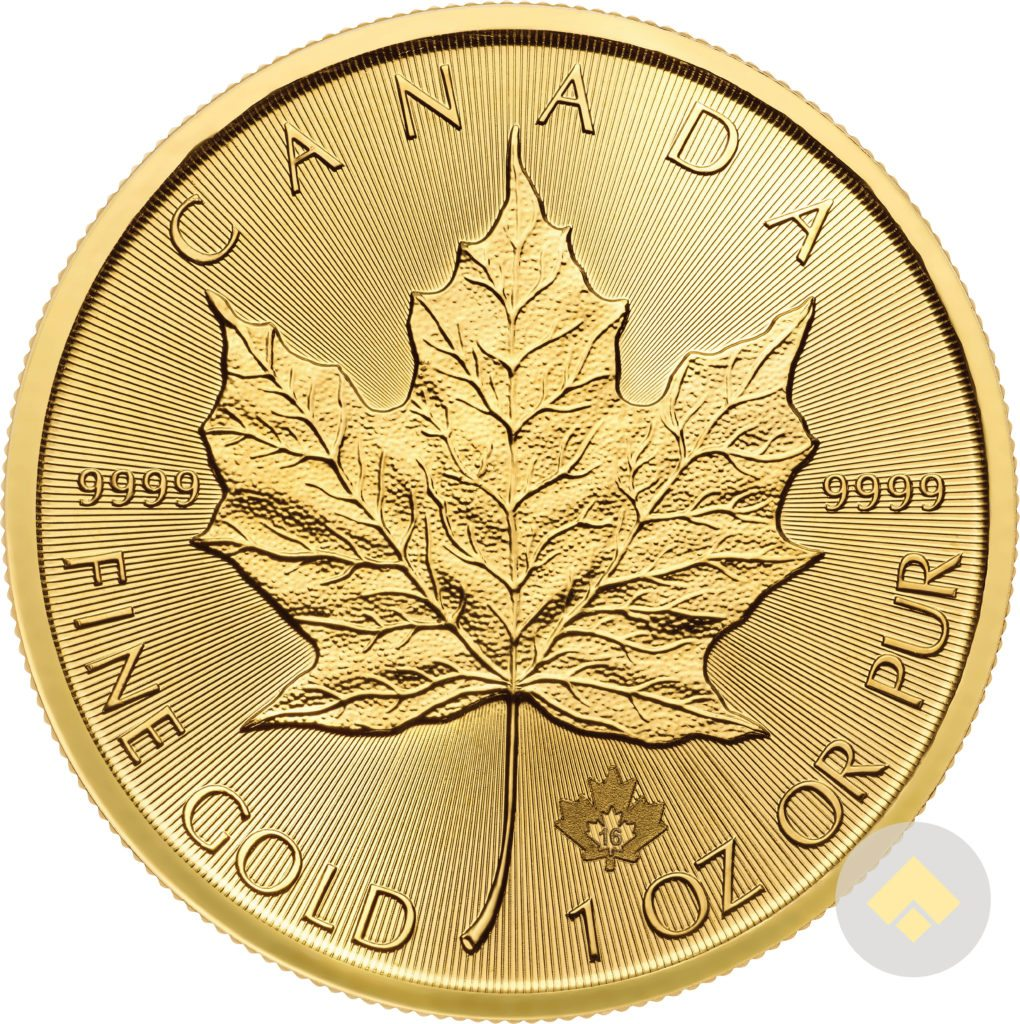 1 Oz Gold Canadian Maple Leaf Coin Random Year