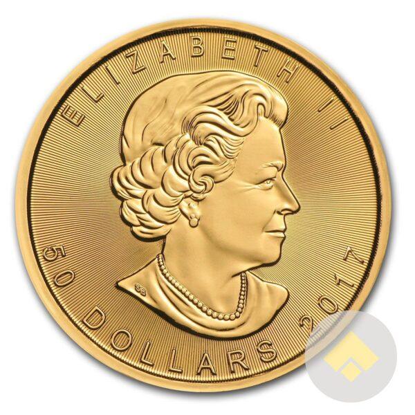 2017 Canadian Gold Maple Leaf Obverse