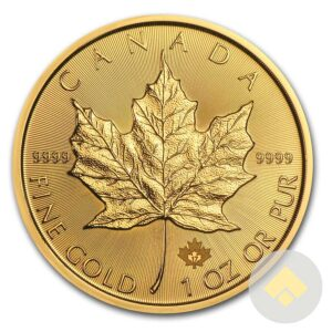 2017 1 oz Gold Canadian Maple Leaf Coin Reverse