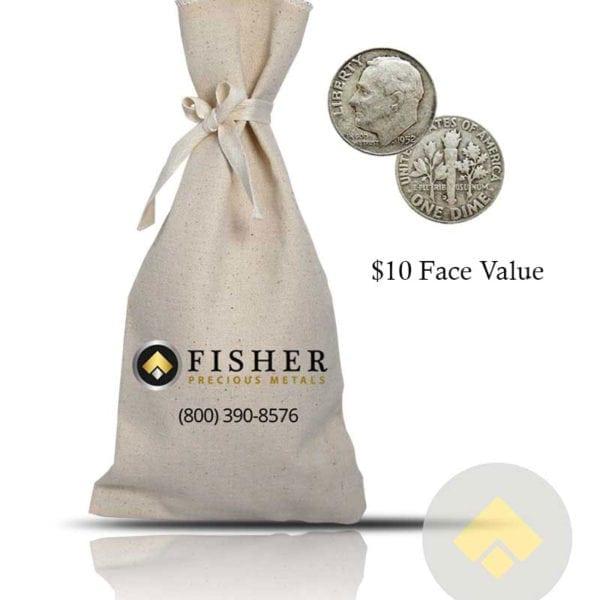 90 Percent Silver Dimes $10 FV