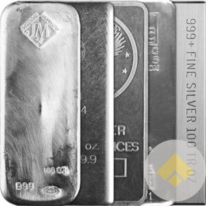 100 oz IRA Approved Silver Bars Our Choice