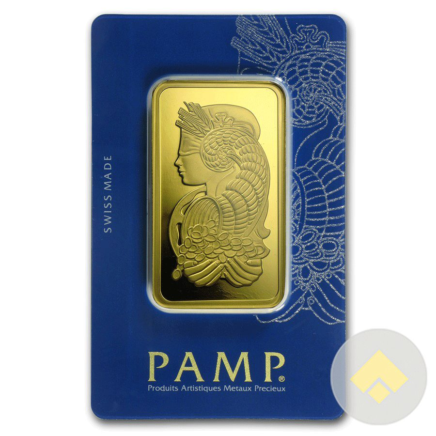 Oz. Gold Bar .9999 Pure in SEALED Assay NEW Authentic Pamp Suisse 1 Ounce