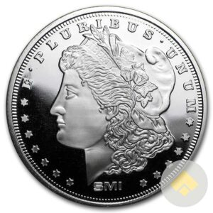 1 oz Morgan Dollar Design Silver Round