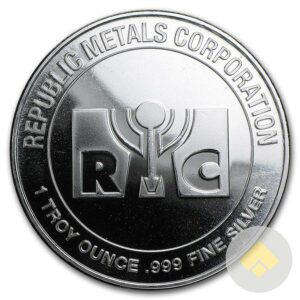 1 oz Republic Metals Silver Round