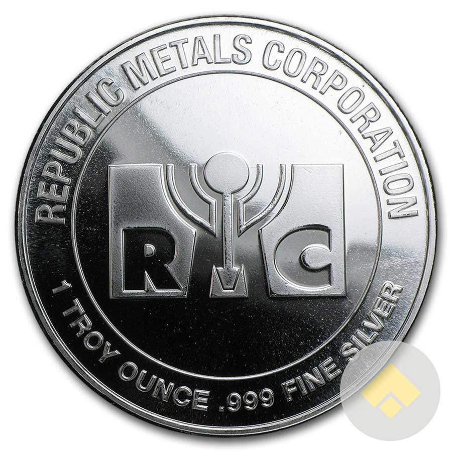 1 Oz Republic Metals Silver Rounds
