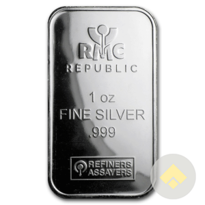 1 oz Republic Metals Silver Bar