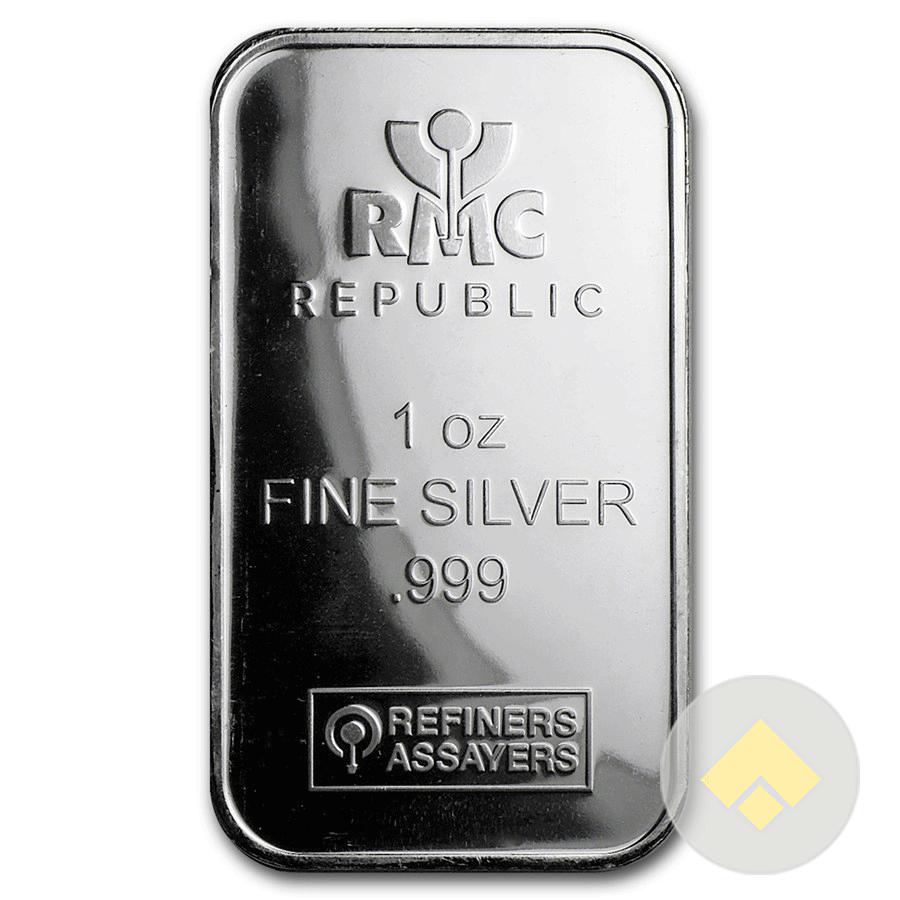 1 Oz Republic Metals Silver Bar