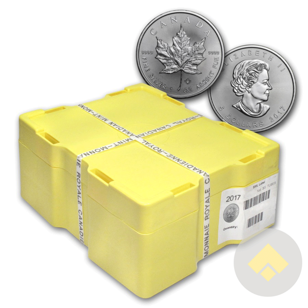 2017 1 oz Canadian Silver Maple Leaf Coin Monster Box
