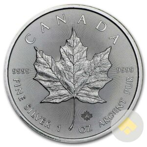 1 oz Canadian Silver Maple Leaf Coin Reverse