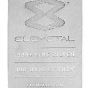 100 oz Elemetal Silver Bar