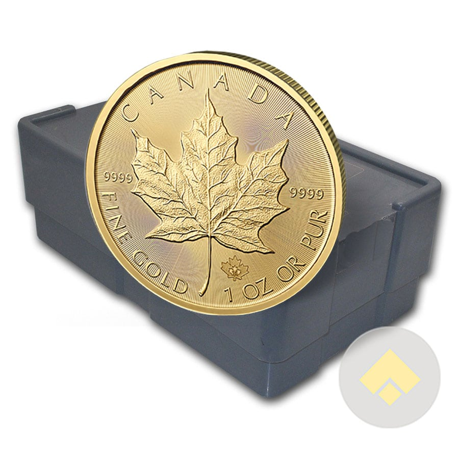 1 Oz Canadian Gold Maple Leaf Monster Box 500 Coins