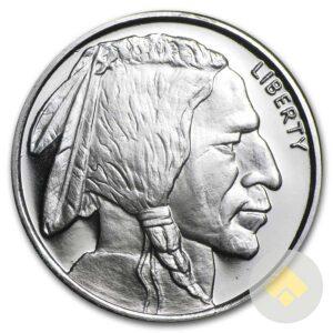 Half Oz Buffalo Silver Round