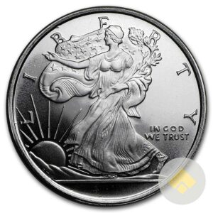 Half Oz Walking Liberty Silver Round