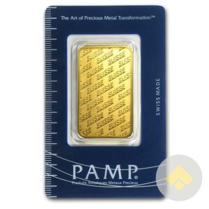 1 oz PAMP Suisse New Design Gold Bar
