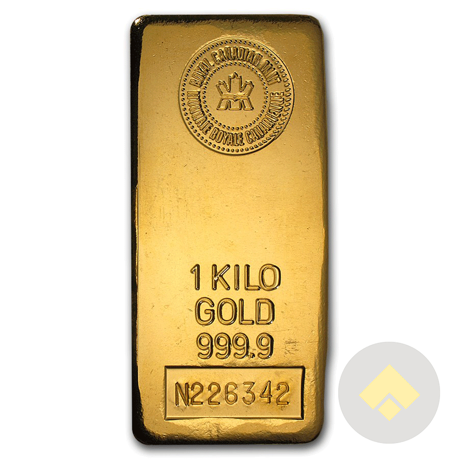 1 Kilo Royal Canadian Mint Gold Bar
