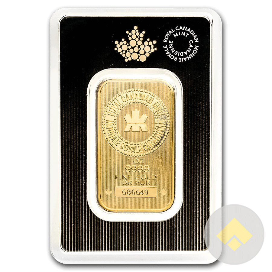 1 Oz Royal Canadian Mint Gold Bar In Assay