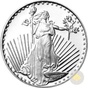 1 oz SilverTowne Saint Gaudens Silver Round