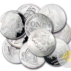 1 oz Silver Rounds Our Choice