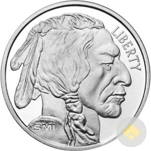 1 oz Sunshine Silver Buffalo Round