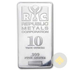 Republic Metals Corp. 10 oz Silver Bar