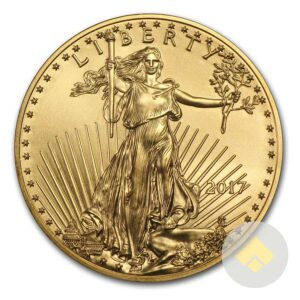 2017 One Tenth oz Gold Eagle Coin Obverse