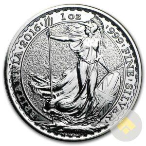 1 oz Silver Britannia Coin BU