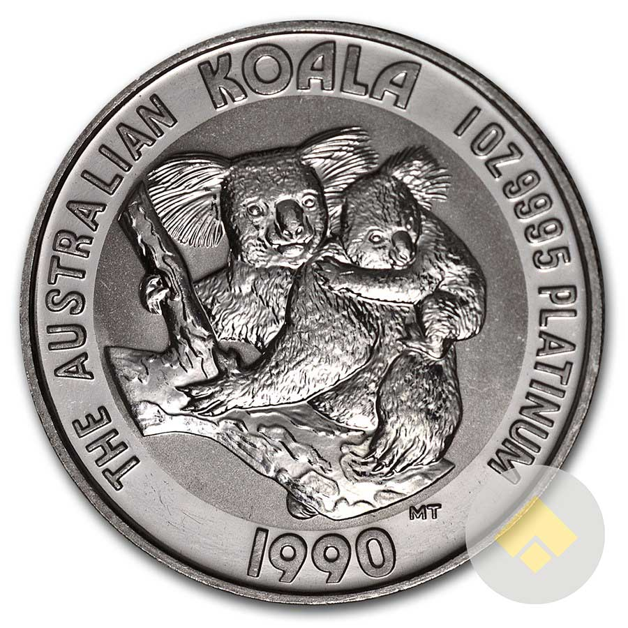 Australian 1 Oz Platinum Koala Random Year