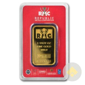 Republic Metals Corp. 1 oz Gold Bar - In Assay