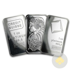 1 oz Platinum Bars - Our Choice