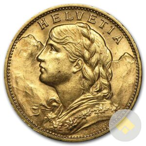 Swiss Gold 20 Francs Helvetia