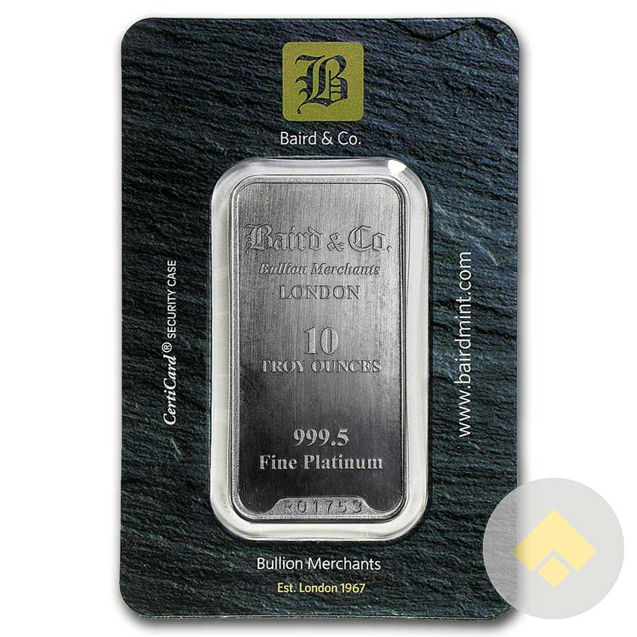 10 Oz Baird Platinum Bar