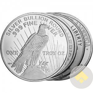 1 oz BU Silver Rounds Our Choice