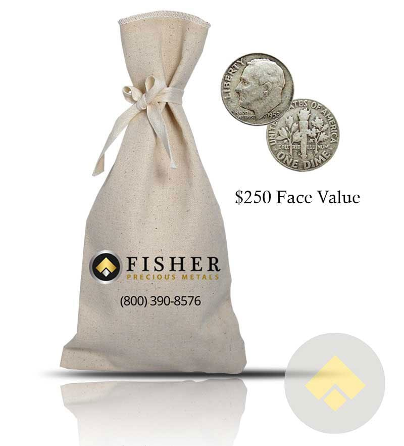 10,000 dimes 90/% silver $1,000 Face Roosevelt 90/% Silver Dimes FREE shipping