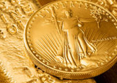 Gold Bar and Coin