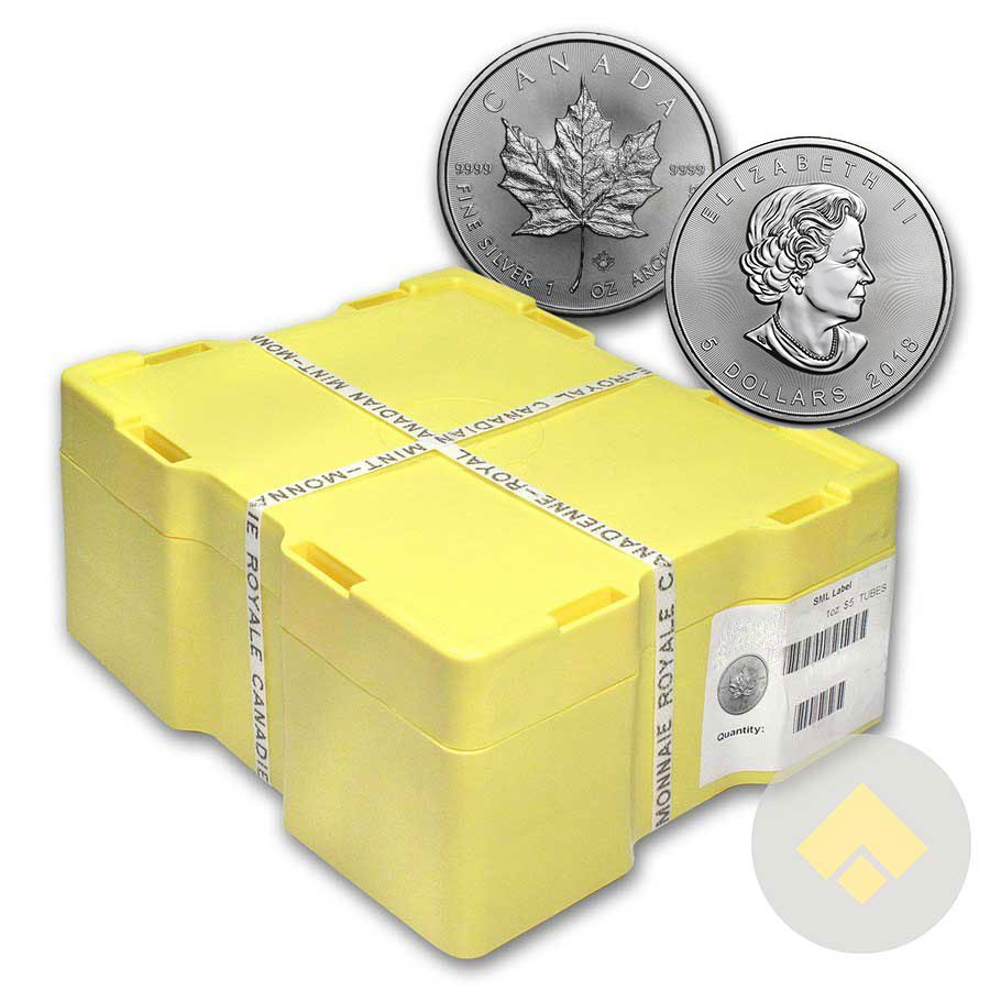 2018 Canadian Silver Maple Leaf Monster Box 500 Coins